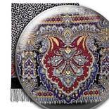 Леопардовые сны 1295-18, павлопосадский шарф шерстяной  с шелковой бахромой, фото 3