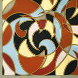 Эвита 1332-1, павлопосадский шарф шелковый крепдешиновый с подрубкой, фото 2