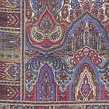 Царский 1159-52, павлопосадский шарф-палантин шерстяной с шелковой бахромой, фото 2