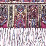 Царский 1159-52, павлопосадский шарф-палантин шерстяной с шелковой бахромой, фото 3