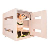 Закрытый деревянный домик для собак DOG HOME FERPLAST