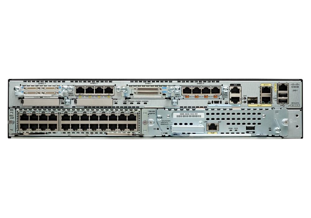 Маршрутизатор Cisco 2951 Security Bundle w/SEC license PAK (CISCO2951-SEC/K9)