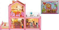Домик для кукол, 2-этажа, 97 деталей, фигурки, мебель, OS953