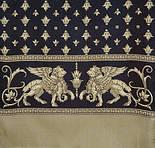 Севилья 1522-2, павлопосадский шарф (кашне) шерсть -шелк (атлас) двусторонний мужской с осыпкой, фото 2
