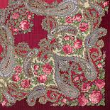 Час свидания 1570-7, павлопосадский платок шерстяной  с шелковой бахромой, фото 2