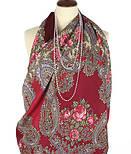 Час свидания 1570-7, павлопосадский платок шерстяной  с шелковой бахромой, фото 5