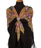 Мгновение 1106-18, павлопосадский платок шерстяной с шелковой бахромой, фото 2