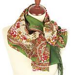 Сказочные мотивы 1580-9, павлопосадский платок шерстяной с шелковой бахромой, фото 2