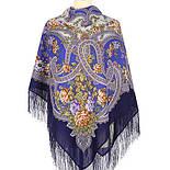 Сказочные мотивы 1580-14, павлопосадский платок шерстяной с шелковой бахромой, фото 2