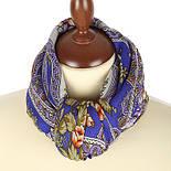Сказочные мотивы 1580-14, павлопосадский платок шерстяной с шелковой бахромой, фото 3