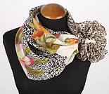 Шелковое прикосновение 10010-2, павлопосадский платок (крепдешин) шелковый с подрубкой, фото 3