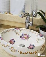 Умывальник чаша ( раковина в ванную) овальная 0004