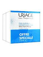 Мягкое дерматологическое мыло-Uriage Extra-Rich Dermatological Syndet Bar 2 x 100g