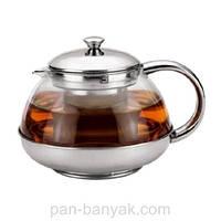 Чайник заварочный с ситечком 0,6л нержавейка Kamille