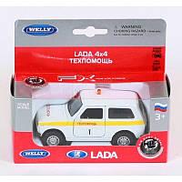 Модель машинки LADA 4X4 техпомощь (инерционная), ТМ Welly, 42386TA-W