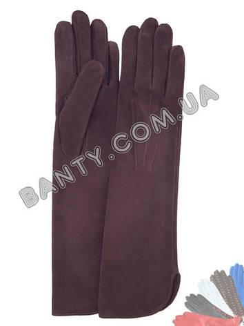 Длинные женские перчатки без подкладки модель 331, фото 2