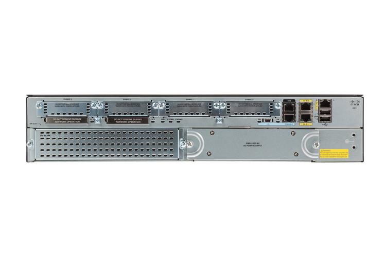 Маршрутизатор Cisco 2911 Security Bundle w/SEC license PAK (CISCO2911-SEC/K9)