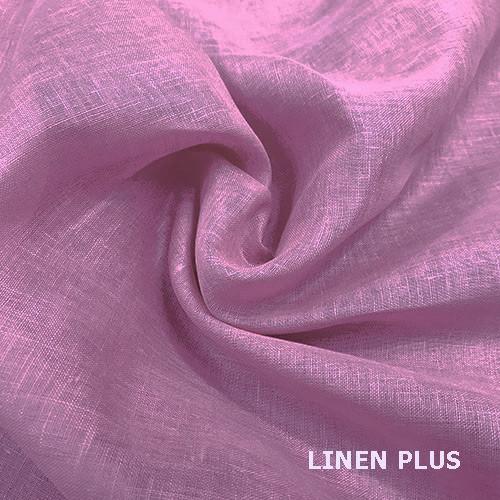 Рожева натуральна лляна тканина 100% бавовна, колір 520