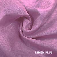 Розовая натуральная льняная ткань 100% лен, цвет 520