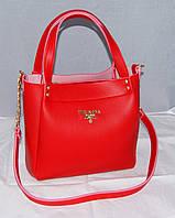 Красная женская сумка Prada, Прада