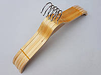 Плечики деревянные светлые с антискользящими накладками на плечах, 42 см, 5 шт в упаковке