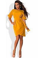 Платье желтого цвета с запахом