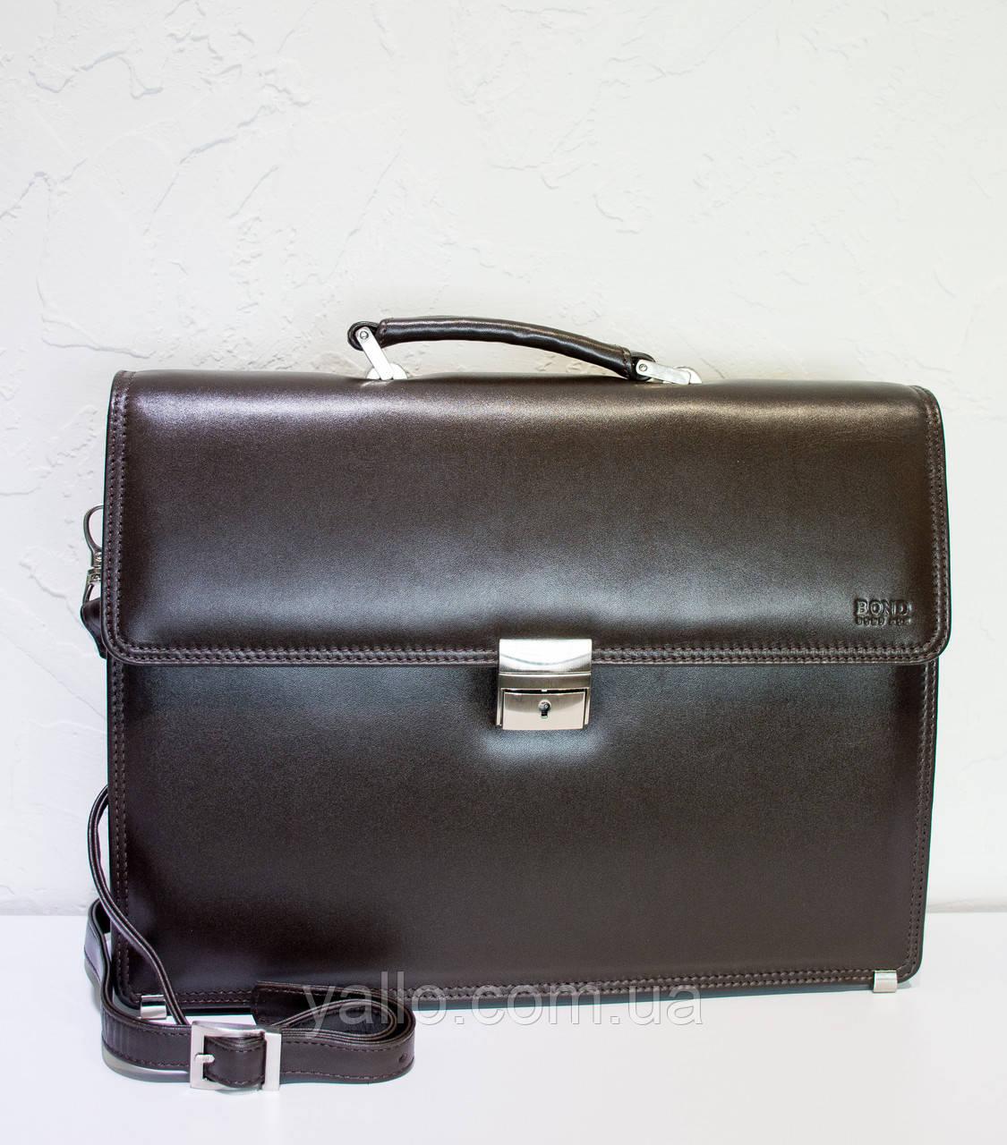 Мужской кожаный портфель BOND 1210-4