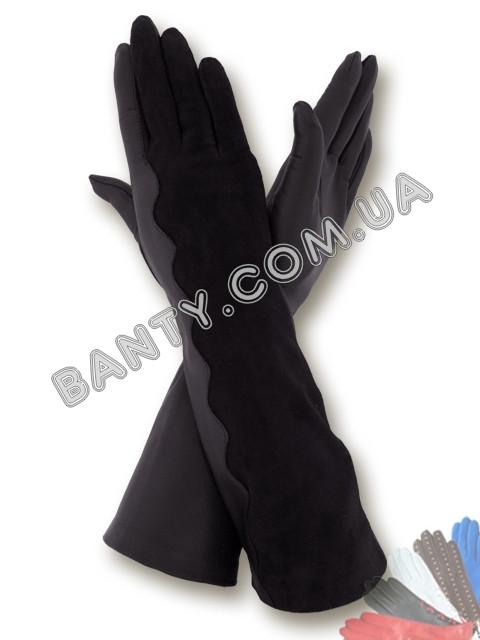 Длинные женские перчатки без подкладки модель 334