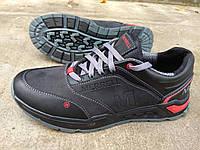 Мужские кожаные кроссовки Merrell черного цвета р. 42
