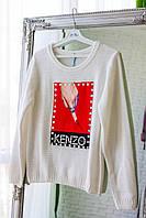 Женская модная кофточка с вышивкой из кашемира