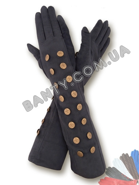 Длинные женские перчатки на шелке модель 351
