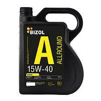 Минеральное моторное масло 15w40 BIZOL Allround  4 л