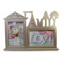 Рамка для фото деревянная на стену Семья