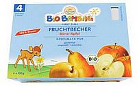 Органическое пюре груша - яблоко, без глютена, Baby Sun, 4 шт./ 100 гр