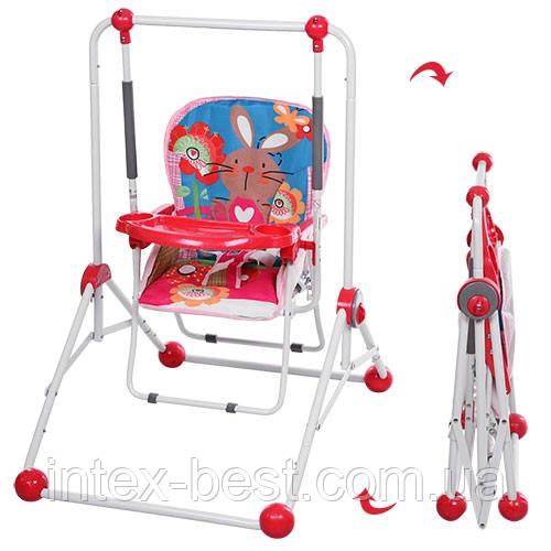 Детская качель-стульчик BAMBI NA 02 A-8 (розовая)