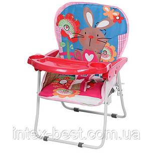 Детская качель-стульчик BAMBI NA 02 A-8 (розовая), фото 2