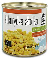 Органическая кукуруза сладкая консервированная, Bio Europa, 340 гр