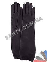 Длинные женские перчатки на шерстяной подкладке модель 451