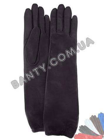 Длинные женские перчатки на шерстяной подкладке модель 451, фото 2