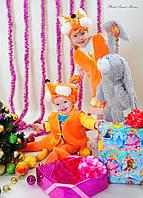 Детский карнавальный костюм для девочки Лисичка 3-7 лет. Оптом