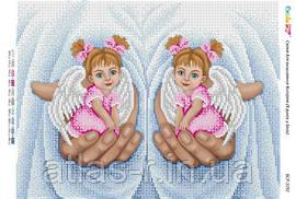 """Схема для вишивки бісером ікони """"В руках у Бога (дівчатка) (част. вишгорода.)"""""""