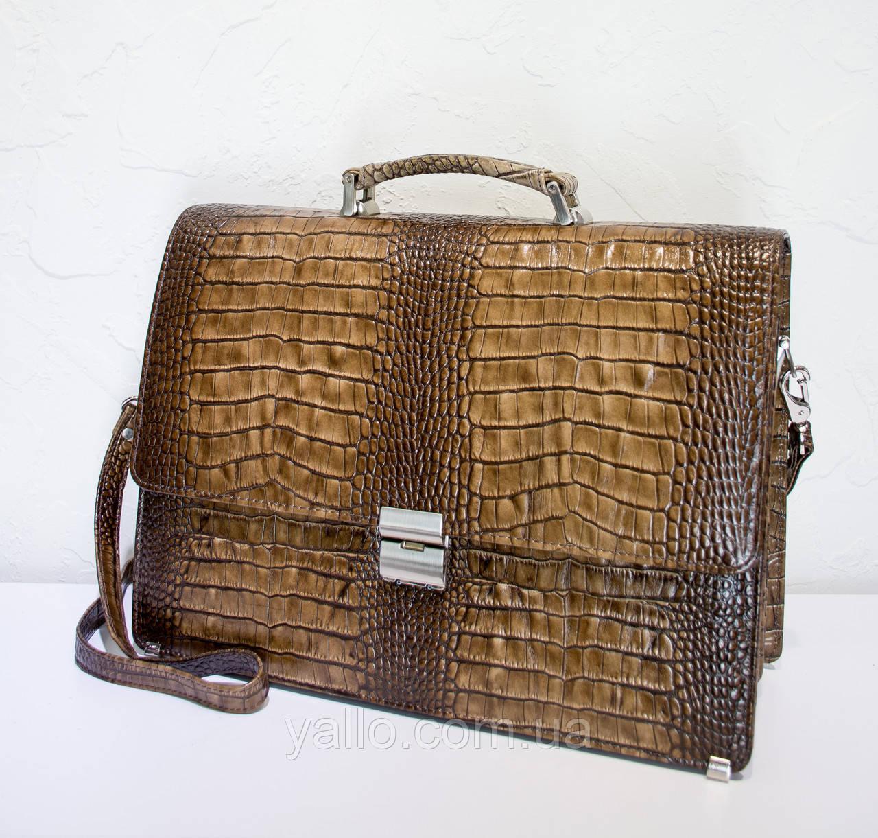 Мужской кожаный портфель BOND 1215-354