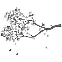 Виниловая Наклейка Shadow Tree