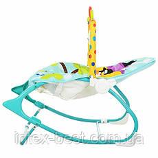 Детский шезлонг-качалка M 3238 регулируемая спинка, фото 3