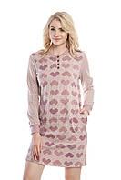 Ночная рубашка Ellen c длинным рукавом на баечке