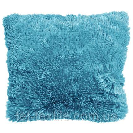Наволочка с длинным ворсом, голубая (50х50), фото 2