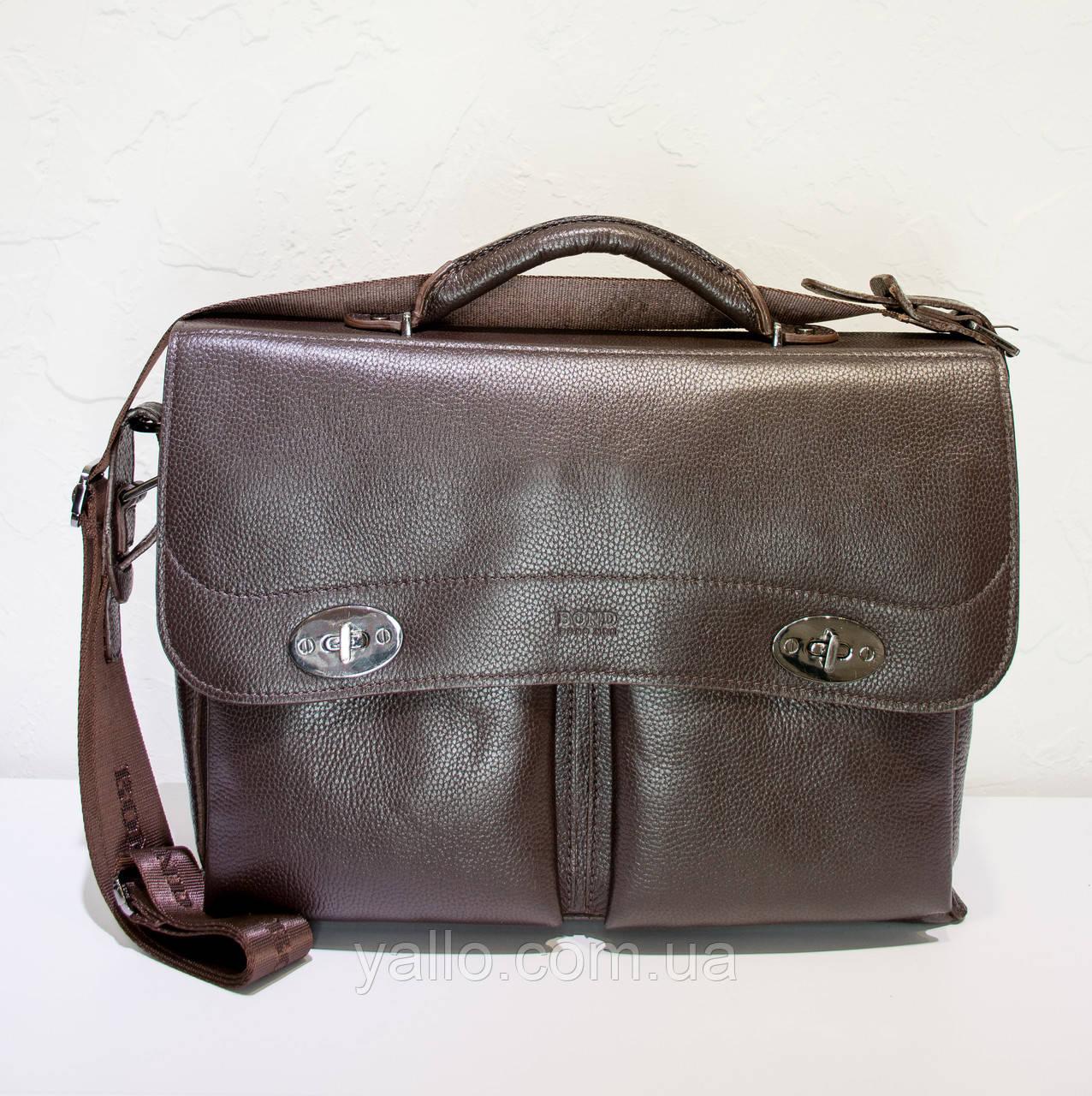 Мужской  кожаный портфель BOND 1223-286