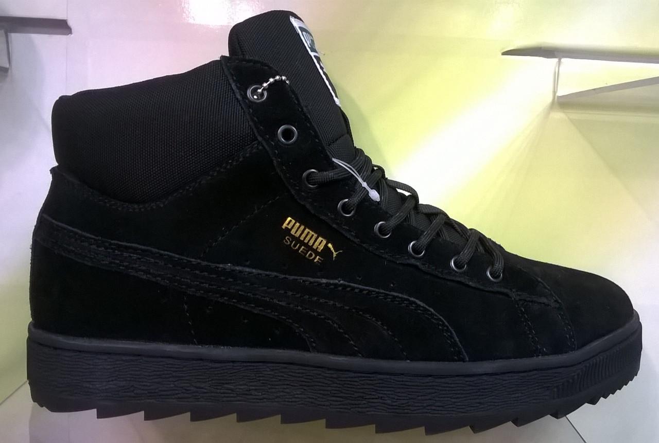 Зимние мужские кроссовки Puma Suede Winter черные