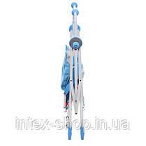 Дитяча гойдалка-стільчик для годування BAMBI NA 05-4 плюшевий чохол (синя), фото 3