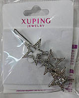 """Заколка для волос, зажим Xuping """"звёзды"""" стразах. Украшения для волос от Бижутерия оптом RRR. 7"""